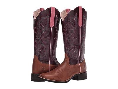 Ariat Jackpot (Sandstone/Eggplant) Cowboy Boots