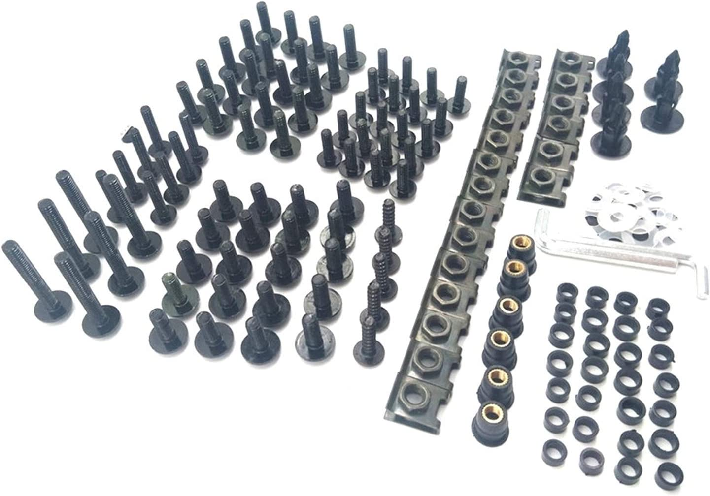 Zhbqcmou Motorcycle Limited time trial price Fairing Bolts Max 54% OFF Screw Kit Compa Clips Nuts Set