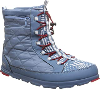 Pakems Americana - Women's Lightweight, Packable, Faux-Fur Lined, Fashionable Après Ski, After Sport and Perfect for Everyday and Travel Boot -Above Ankle High (Sizes 6-11)