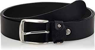 حزام جلدي للرجال من تيمبرلاند، مقاس M أسود Medium