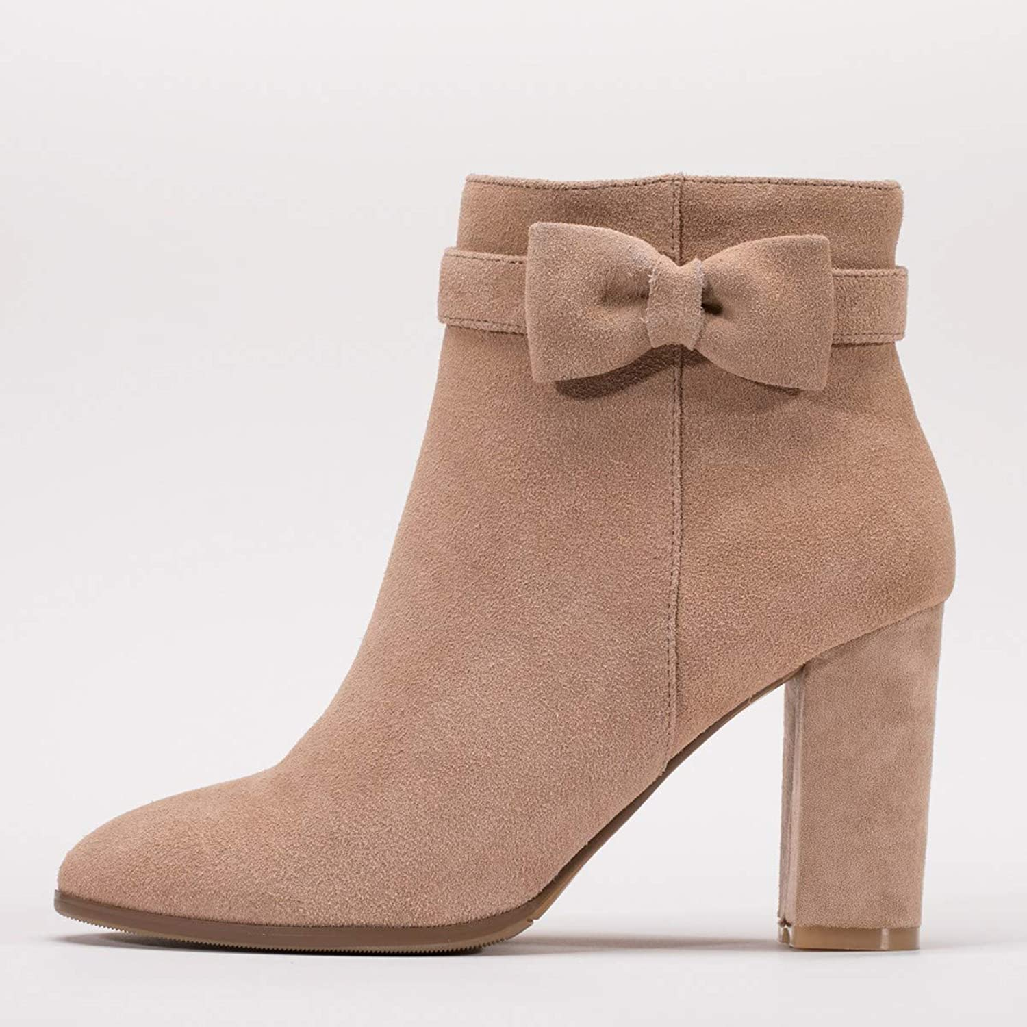 SFSYDDY Popular shoes Thick with Martin Boots with High 9Cm Wild and Ankle Boots High Heel Boots Short Boots.