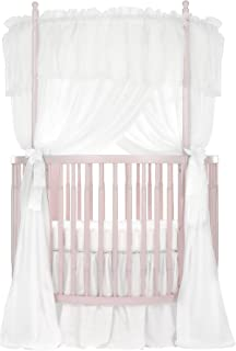 Dream On Me Sophia Posh Circular Crib, Blush Pink