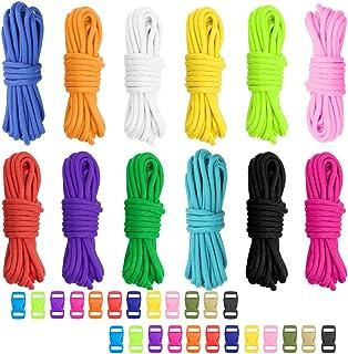 collier de chien porte-cl/és upain Lot de 12 paracorde 550 avec 12 boucles /à d/égagement rapide et 12 pendentifs pour bracelets laisses de plein air