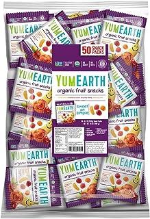 YumEarth Organic Vegan Fruit Snacks, 0.7 Ounce Snack Packs, 50 pack (Pack of 1) - Allergy Friendly, Non GMO, Gluten Free, ...