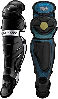 EASTON PRO X Baseball Catchers Leg Guards   2020   Vented Shell + Poron XRD + EVAIR Foam for Ultimate Protection & Breathability   Reinforced Knee + Thigh Straps Provides Ultimate Fit & Mobility