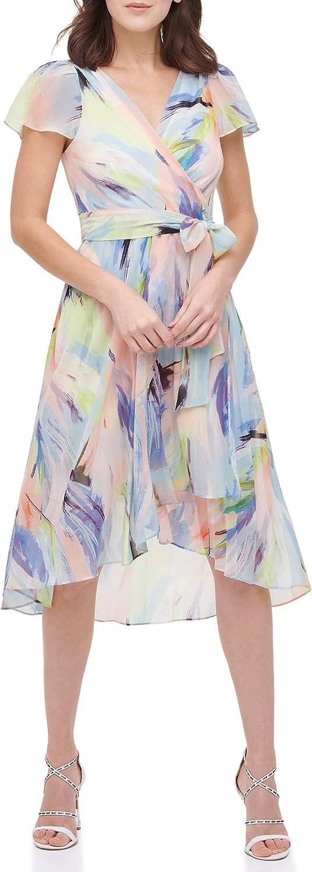 DKNY Women's Faux Wrap Dress
