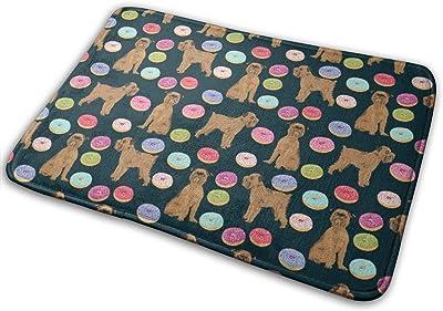 """Brussels Griffon Navy Blue Pet Dogs Cute Dogs Design Donuts Cute Food_18225 Doormat Entrance Mat Floor Mat Rug Indoor/Outdoor/Front Door/Bathroom Mats Rubber Non Slip 23.6"""" X 15.8"""""""