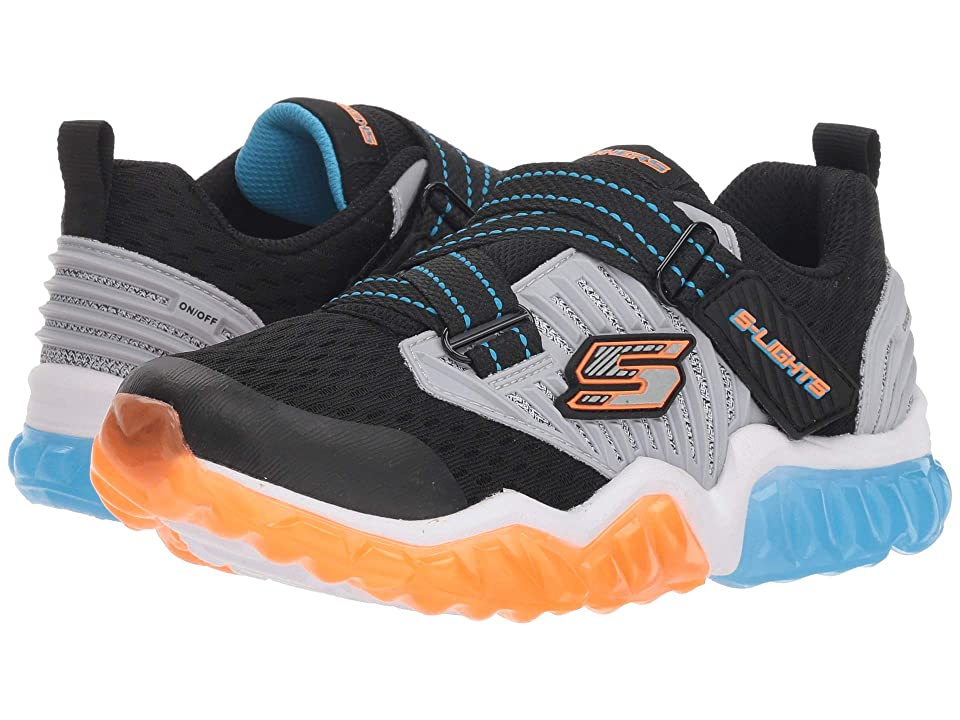 SKECHERS KIDS Rapid Flash 90721L Lights (Little Kid/Big Kid) (Black/Orange) Boy