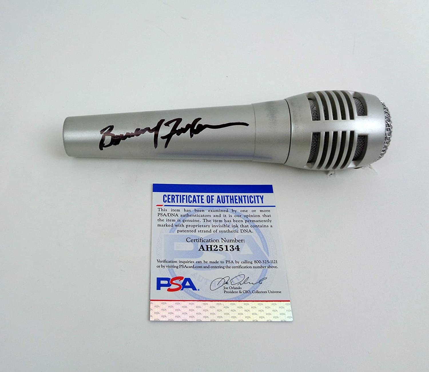 Colorado Springs Mall Bernard Fowler The Rolling Stones Autograph Microphone Signed PS Mail order cheap