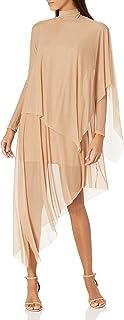 Women's Asymmetrica Turtleneck Midi Dress