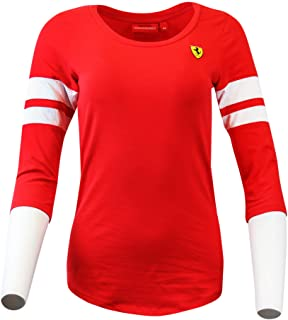 Ferrari Womens 3/4 Sleeve Race Tee