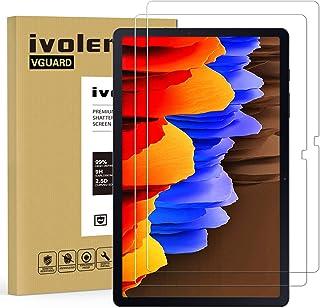 ivoler 2-pack skärmskydd för Samsung Galaxy Tab S7+/S7 Plus 12,5 tum (T970/T976B), härdad glasfilm för Samsung Galaxy Tab ...