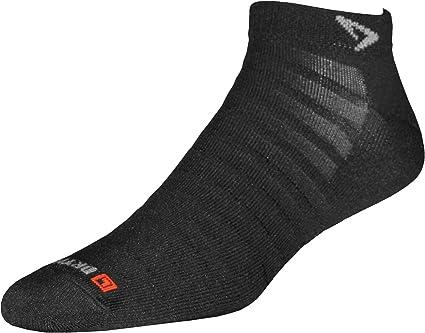 Drymax Run Hyper Thin Mini Crew Socks, Black, Large (W10-12 / M8.5-10.5)