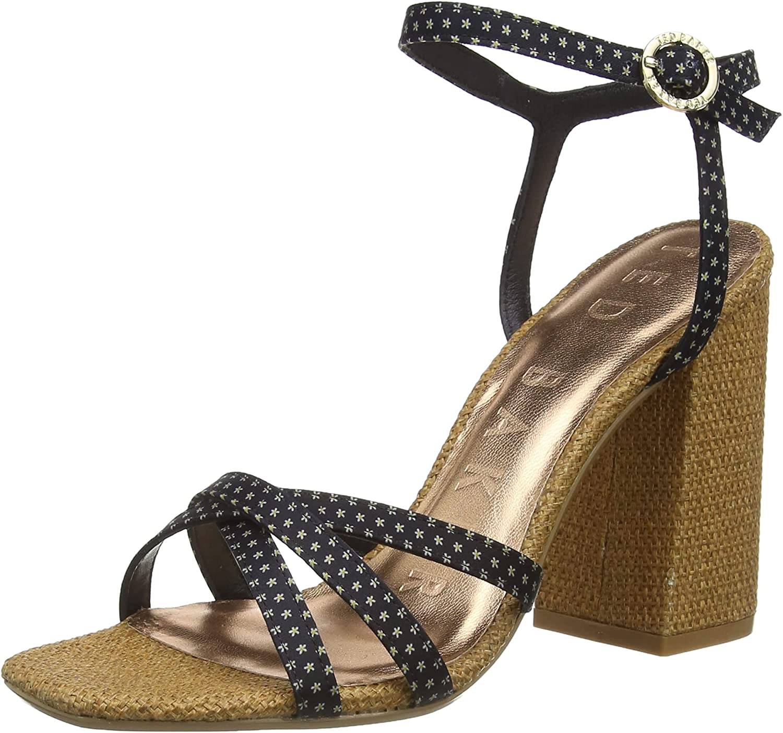 Ted Baker Women's Ankle-Strap Heeled Sandal, Black, 7.5