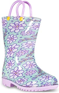 Printed Kids Toddler Rain Boots for Girls and Boys,Alligator,1