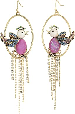 Betsey Johnson - Purple Bird Cage Orbital Earrings