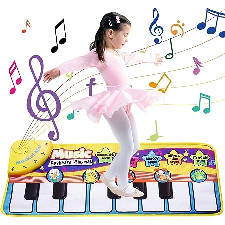 Faburo Piano Mat Tastiera, Tappeto Musicale Danza Stuoia Strumento Tappeto Musicale Tocco Mat Bambini Educativo Giocattolo(70 * 30cm)