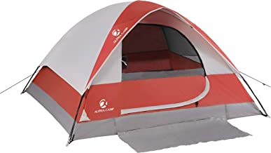 ALPHA CAMP 2~4 Person Camping Dome Tent with Carry Bag,...