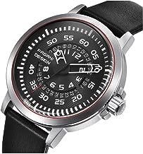 Men's Classic Outdoor Expedition Waterproof Watch with Arabic Numerals Display Quartz Wristwatch