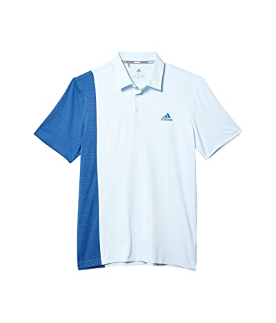 adidas Golf Ultimate365 Blocked Print Polo Shirt (Sky Tint/Trace Royal/Collegiate Navy) Men