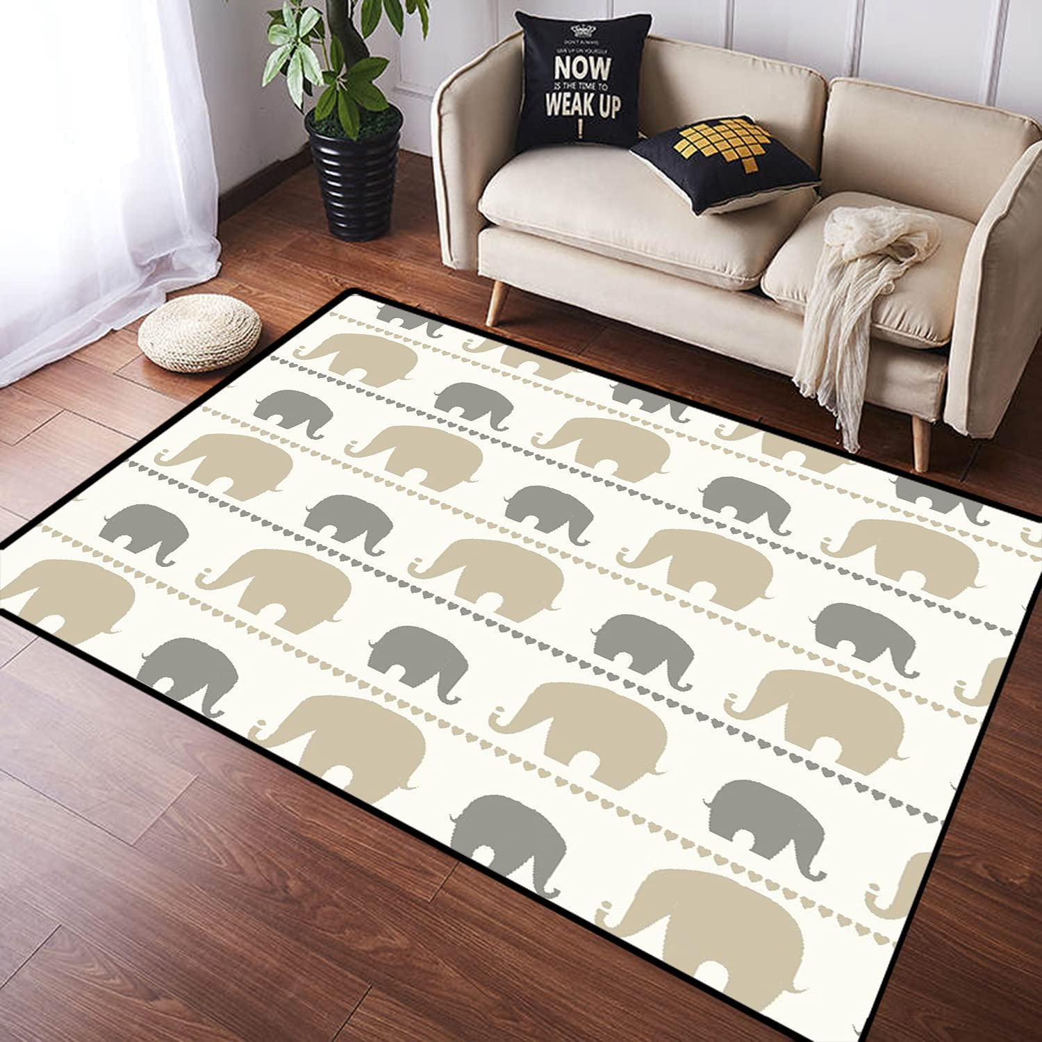 ZOMOY Long Floor Mat Limited time for free shipping Carpet Fashionable Absorbent Cute Non-Slip Elephant Ind
