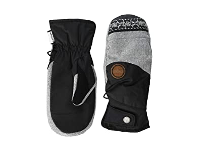 Roxy Vermont SpinDye Snow Mitts (True Black) Ski Gloves