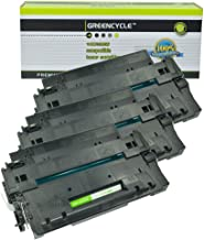 GREENCYCLE High-Yield 55A CE255A Toner Cartridge Replacement Compatible for HP Laserjet P3010 P3011 P3015 P3015d P3015x P3016 M521dn M525dn M525f M525c, Page Yield Up to 10000 Pages (Black, 3 Pack)