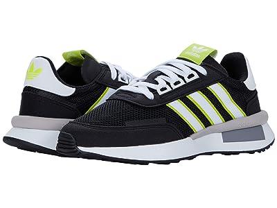 adidas Originals Kids Retroset J (Big Kid) (Core Black/Footwear White/Solar Yellow) Boys Shoes