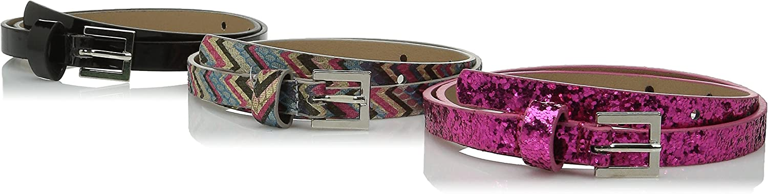 On the Verge Girls' Chevron Belts (3 Pieces)