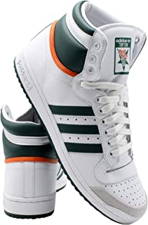 adidas Mens Top Ten Hi Sneaker - White Grey,White