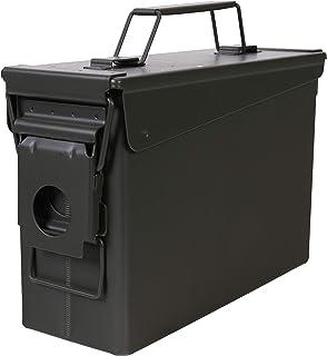 Allen Company Classic Steel Ammo Box, Lockable & Waterproof Lid, .30 / .50 Caliber & Combo, Army Green