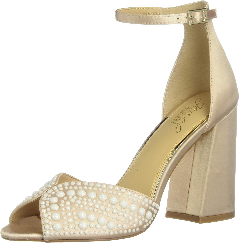 Jewel Badgley Mischka Women's SERENITY Sandal, Champagne, 7 M US