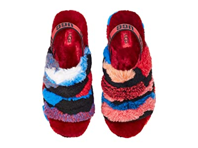 UGG Fluff Yeah Slide (Red Cali Collage) Women