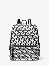 Michael Kors Toby Ladies Medium Black/White Leather Casual Backpack 30T9UOYB2B-002