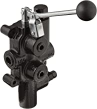 Prince LS-3000-1 Directional Control Valve, Logsplitter, 4 Ways, 3 Positions, Spring Center to Neutral, Cast Iron, 2750 psi, Lever Handle, 25 gpm, In/Out: 3/4