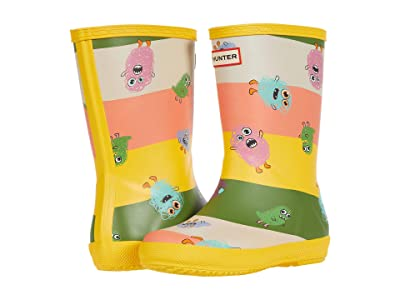 Hunter Kids Original First Classic Scribble Pioneers Print Wellington Boots (Toddler/Little Kid) (Helios) Kid