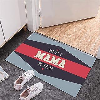 BISXOTY Mother's Day Mat,Easter Day Decoration Doormat,Anti-Skid Bottom Floor Mats,Indoor Outdoor Carpet,Entrance Mat,Non-...