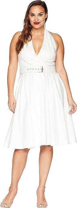 08c8700fb9f7f Unique Vintage. Plus Size Halter Tarrytown Hostess Dress