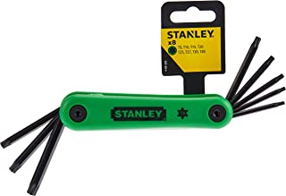 Stanley Green Hex Key Set Torx Folding Tool Sets, 4-69-263