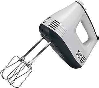 Black+Decker 300W Hand Mixer, White - M350-B5, 2 Years Warranty