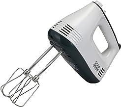 Black+Decker 300W Hand Mixer, M350-B5, White/Grey, 2 Year Brand Warranty