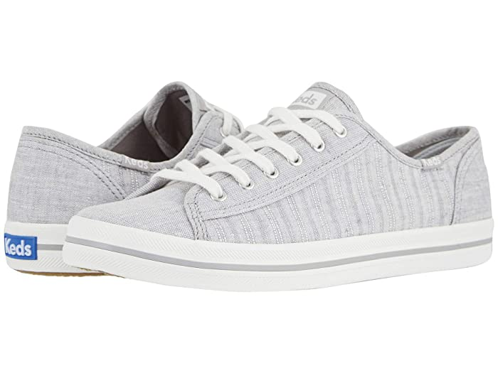 Keds  Kickstart Chambray Stripe Linen (Light Gray) Womens Shoes