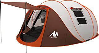 ayamaya Pop Up Tents with Vestibule for 4 to 6 Person - Double Layer Waterproof Easy Setup Big Family Camping Tent - Venti...
