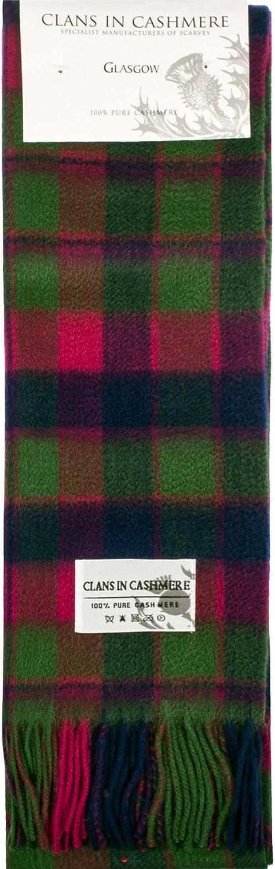 Luxury 100% Cashmere Scottish Clan Scarf Glasgow