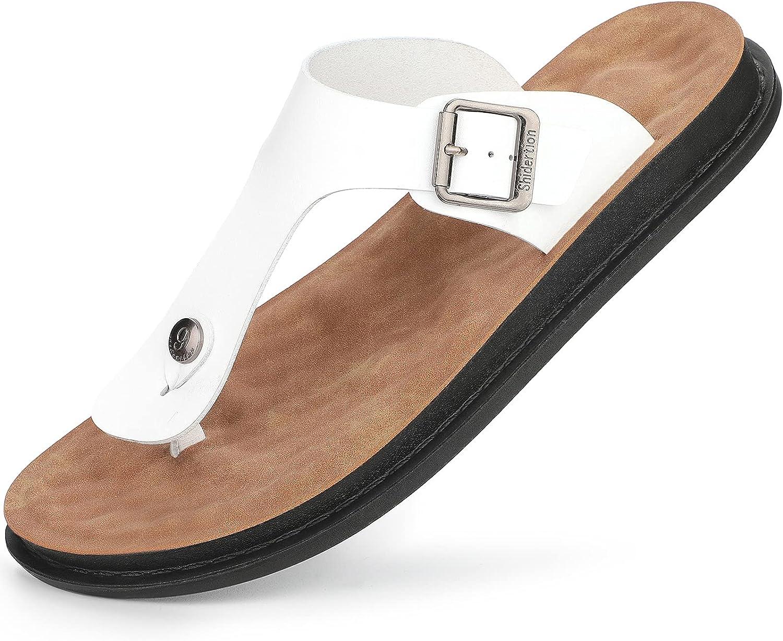 Men's Flip-Flops Comfort Thong Sandals with Arch Support for Indoor and Outdoor Beach