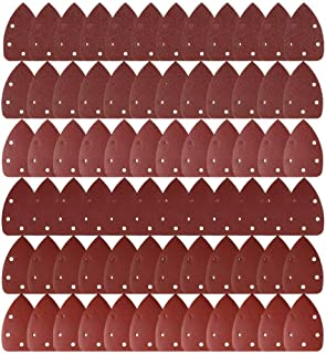 Sander Accessories Hook and Loop Assorted 40/ 60/ 80/ 120/ 240 Grits to Fit Black and Decker Detail Palm Sander AUSTOR 50 Pieces Mouse Detail Sanding Sheets Sandpaper with Extra 2 Tips for Replacement