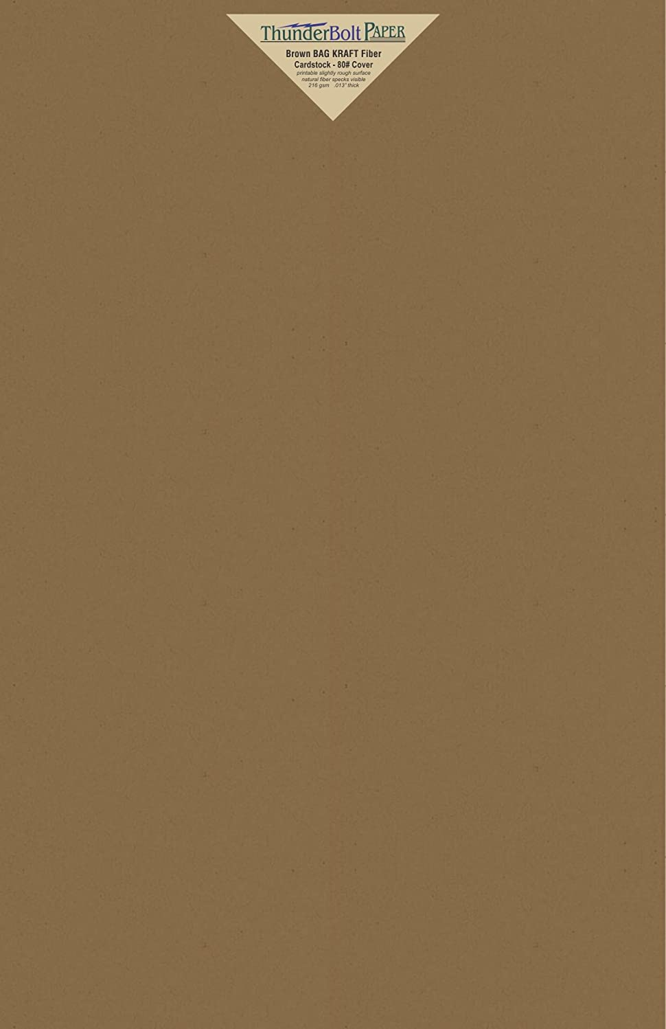 15 Brown Bag Colored Cardstock Paper Sheets - 12 X 18 inches Large|Poster Size – 80 lb/Pound Cover|Card Weight 216 GSM - Natural Kraft Fiber with Darker Specks - Slightly Rough Finish