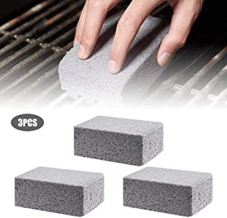 Grilling Stone Cleaner Ecological Stone Cleaner Pumice Stone Grill Griddle Cleaning Brick Block for Cleaning and Removing BBQ Grills, Racks, Flat Top Cookers