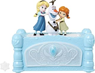 Disney Frozen Musical Jewelry Box with Do You Want to Build A Snowman Song, Watch Anna & Elsa Built Olaf! Snowflake Ring I...