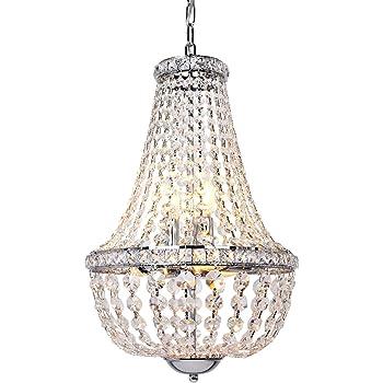 Glow Lighting 639ND16SP-7 Faux Pearl Bead Chandelier 16 x 16 x 20.5